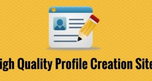 High PR Profile Creation Sites
